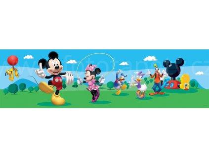 Dětská samolepící bordura - Mickey Mouse, 14cm x 5m,  WBD 8069