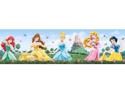 Dětská samolepící bordura - Princezny u zámku, 14cm x 5m,  WBD 8072