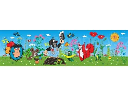 Dětská samolepící bordura - Krteček a zrcadlo, 14cm x 5m,  WBD 8076