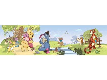 Dětská samolepící bordura - Medvídek Pú, 10cm x 5m,  WBD 8080