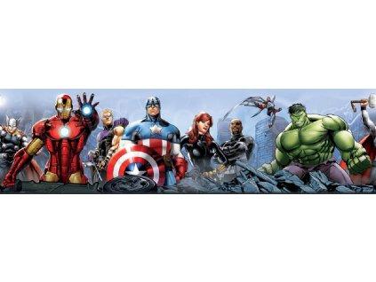 Dětská samolepící bordura - Avengers, 10cm x 5m,  WBD 8087