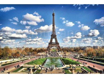 Pětidílná vliesová fototapeta Paříž, rozměr 375x250cm, MS-5-0025