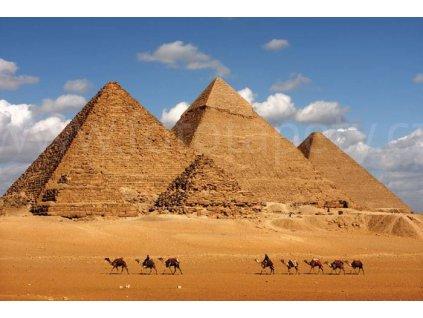Pětidílná vliesová fototapeta Egyptské pyramidy, rozměr 375x250cm, MS-5-0051