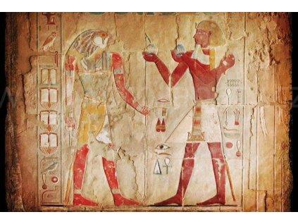 Pětidílná vliesová fototapeta Egyptské malby, rozměr 375x250cm, MS-5-0052