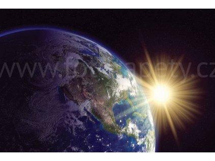 Pětidílná vliesová fototapeta Země, rozměr 375x250cm, MS-5-0190