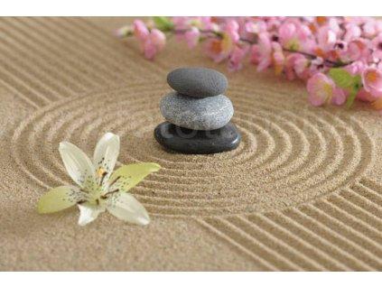 Pětidílná vliesová fototapeta Zahrada Zen, rozměr 375x250cm, MS-5-0117