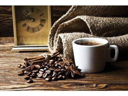 Pětidílná vliesová fototapeta Šálek kávy, rozměr 375x250cm, MS-5-0245