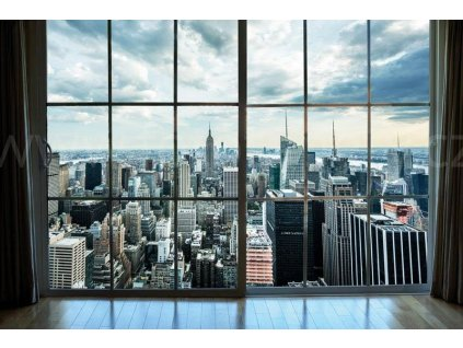 Pětidílná vliesová fototapeta Pohled na Manhattan, rozměr 375x250cm, MS-5-0009