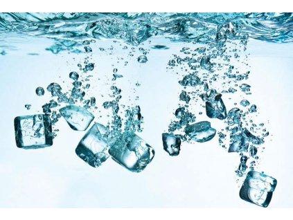 Třídílná vliesová fototapeta Kostky ledu, rozměr 330x220cm, XL 459