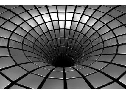 Pětidílná vliesová fototapeta Stříbrná díra, rozměr 375x250cm, MS-5-0278
