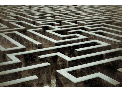 Pětidílná vliesová fototapeta Labyrint, rozměr 375x250cm, MS-5-0279