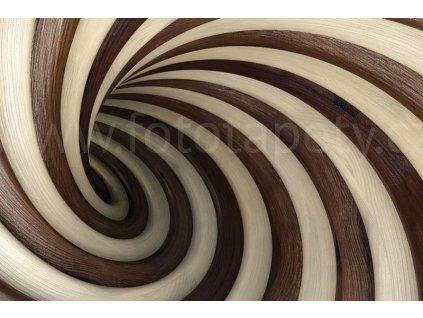 Pětidílná vliesová fototapeta Twisted tunel, rozměr 375x250cm, MS-5-0277