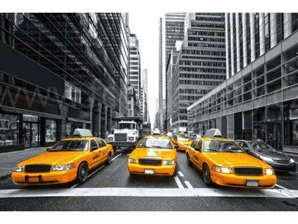 Pětidílná vliesová fototapeta Žluté taxi, rozměr 375x250cm, MS-5-0008