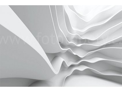 Pětidílná vliesová fototapeta Bílá abstrakce, rozměr 375x250cm, MS-5-0295