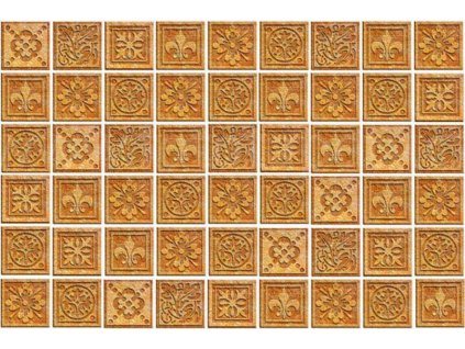 Třídílná vliesová fototapeta Žulové kachličky, rozměr 330x220cm, XL 561