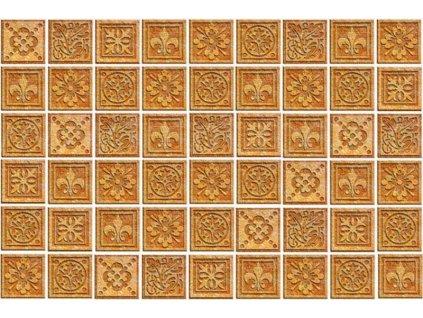 Pětidílná vliesová fototapeta Žulové kachličky, rozměr 375x250cm, MS-5-0274