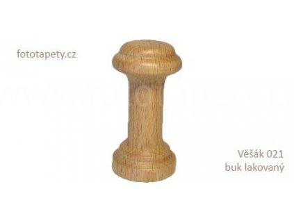 Dřevěný věšák 021 - jednokolíkový