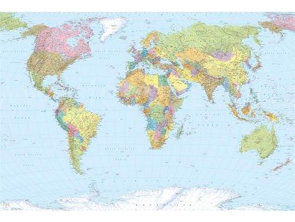 Čtyřdílná vliesová fototapeta Mapa světa, 368x248cm, XXL4-038