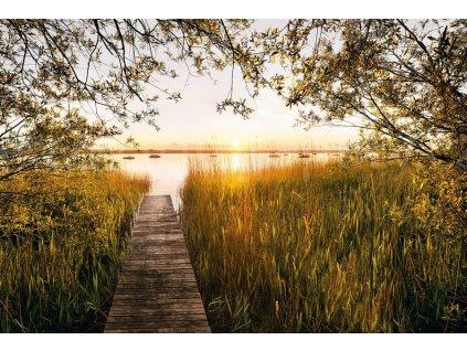 Čtyřdílná vliesová fototapeta U jezera, 368x248cm, XXL4-052