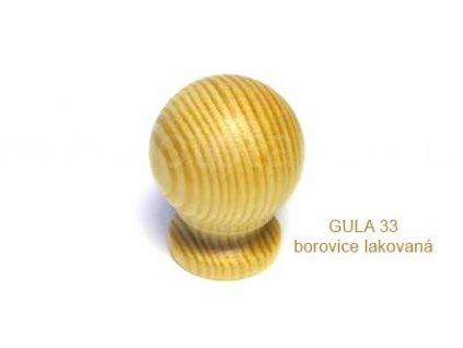 knopek dřevěný GULA 33