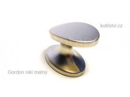 kovový knopek GORDON  nikl matný