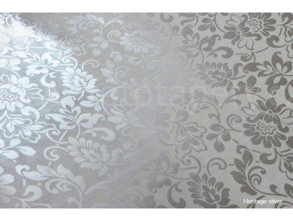 Samolepící fólie Decor, Heritage - silver