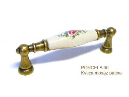 úchytka PORCELA 96 kytice