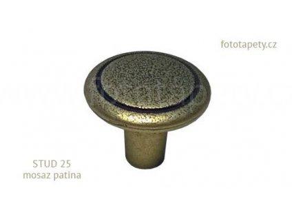 kovový knopek STUD 25 mosaz patina