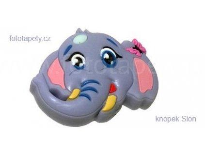 knopek Slon - dětská plastová úchytka na nábytek