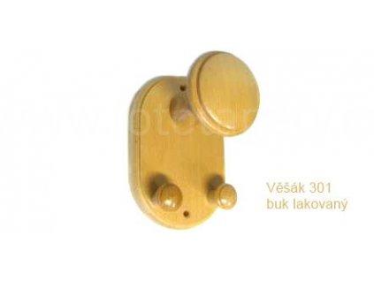 Dřevěný věšák 301 - tříkolíkový