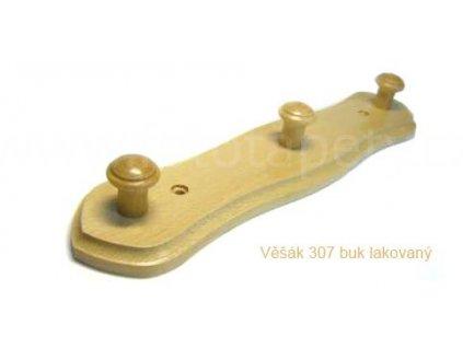 Dřevěný věšák 307 - tříkolíkový