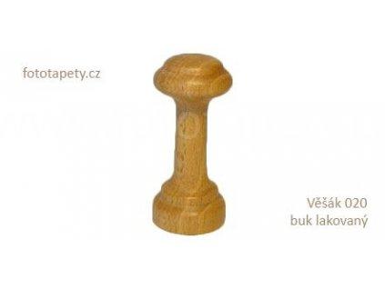 Dřevěný věšák 020 - jednokolíkový