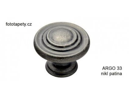 kovový knopek ARGO nikl patina