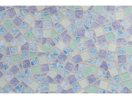 Samolepící tapeta modrý krystal - Mosaic blue
