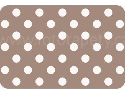 Prostírání na stůl - Hnědé puntíky, 44x29cm, 230-8575