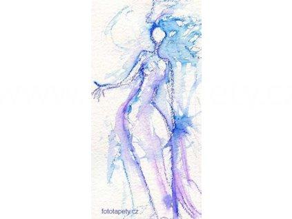Samolepící velkoplošná nálepka - Bílá královna, 100x180cm