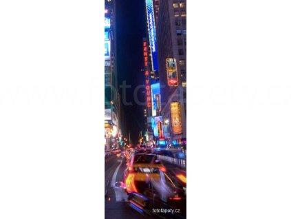 Samolepící velkoplošná nálepka - Život velkoměsta, 100x270cm
