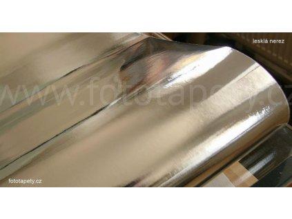 Samolepící kovově matná folie s prolisovaným povrchem v imitaci lesklé nerezi