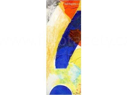 Samolepící malířské plátno - Geometrické tvary, 100x270cm