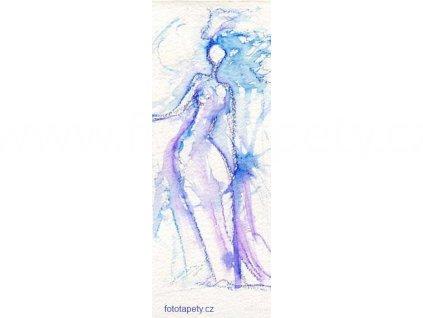 Samolepící malířské plátno - Bílá královna, 100x270cm