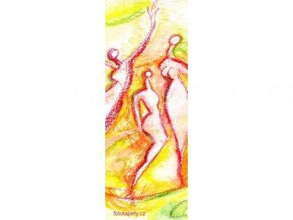 Samolepící malířské plátno - Radost, 100x270cm