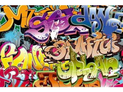 Samolepící fototapeta na podlahu - Graffiti, 255x170cm, 013