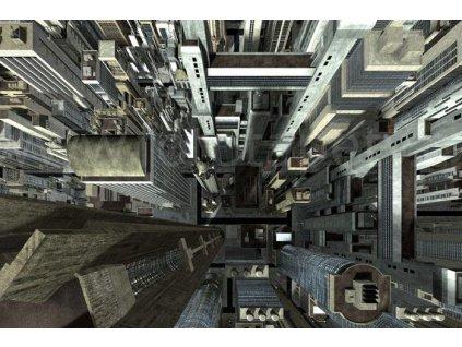 Samolepící fototapeta na podlahu - Mrakodrapy, 255x170cm, 015