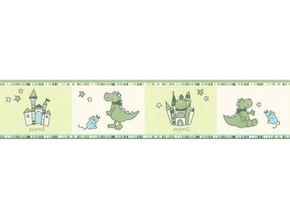 Dětská vinylová bordura Esprit Kids 5, 13cm x 5m, 1091-18 - Dinosauři