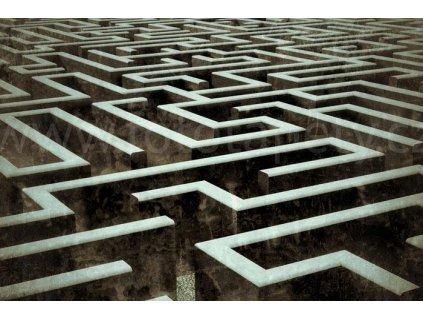 Samolepící fototapeta na podlahu - Labyrint, 255x170cm, 019
