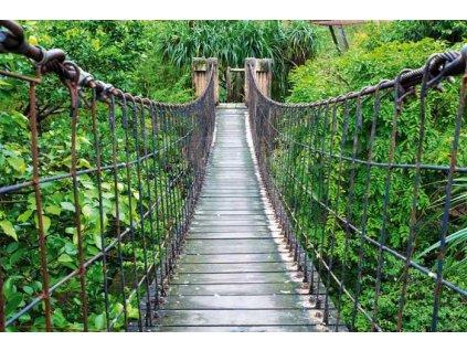 Samolepící fototapeta na podlahu - Most přes řeku, 255x170cm, 026