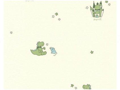 Vliesová tapeta na zeď Esprit Kids 5, 0,53x10,05m, 1092-17 - dinosaurus