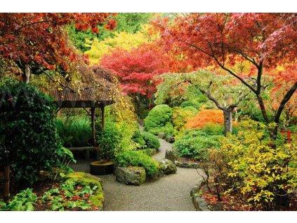 Samolepící fototapeta na podlahu - Japonská zahrada, 255x170cm, 027