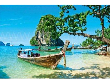 Samolepící fototapeta na podlahu - Thajská loďka, 255x170cm, 028