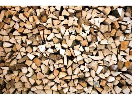 Samolepící fototapeta na podlahu - Dřevěná polena, 255x170cm, 029